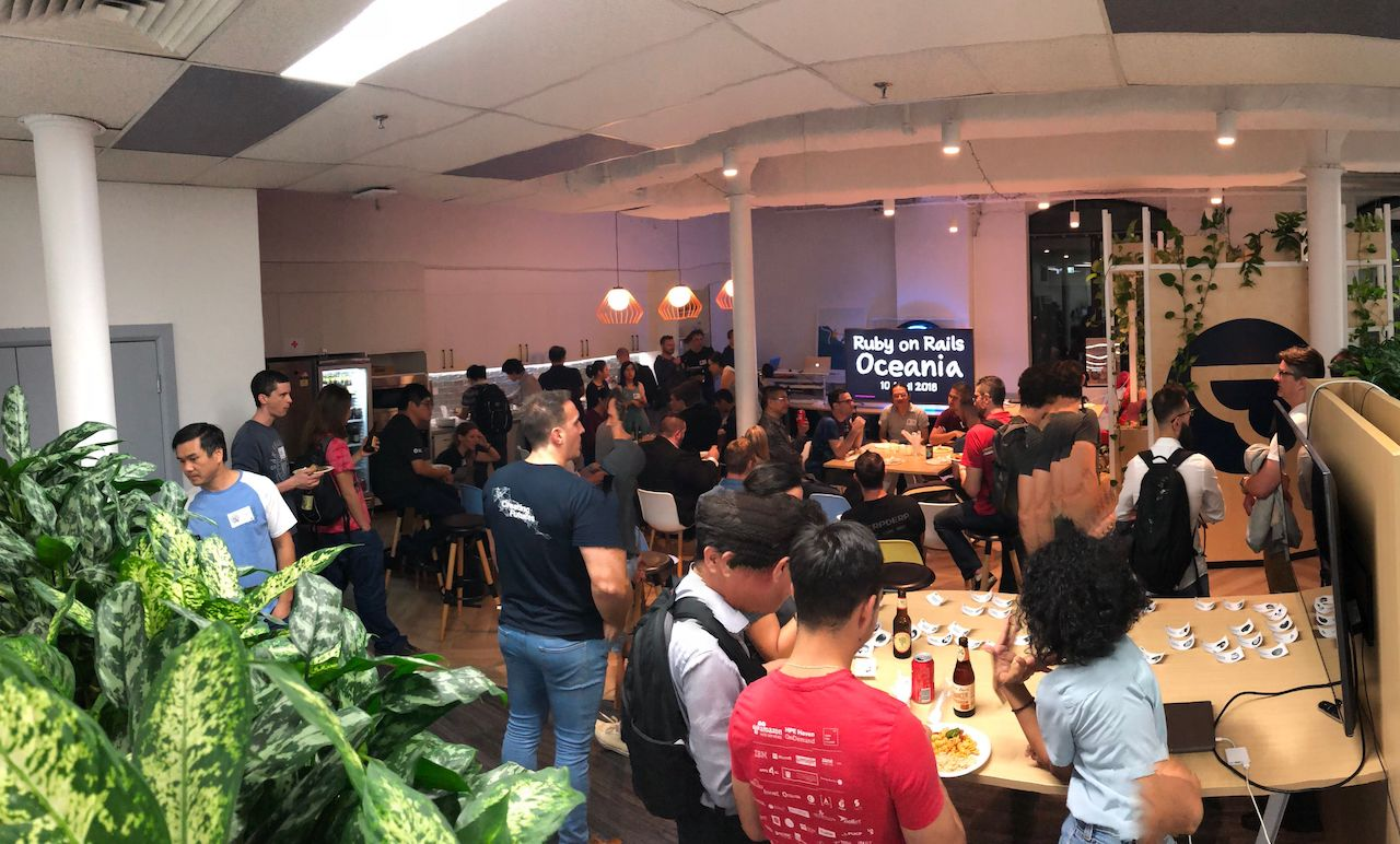 The Ruby on Rails Oceania (RORO) meetup at Airtasker offices