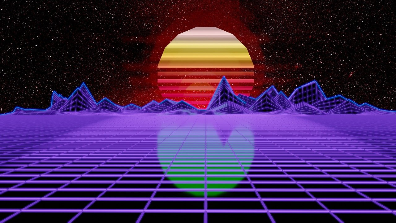 Synthwave, Retrowave, Synth, Technology, Abstract